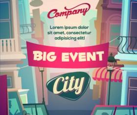 Street advertising billboard vector 02