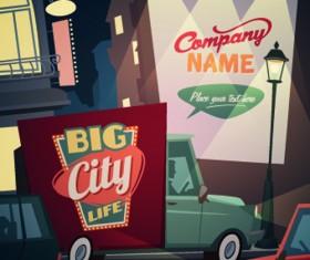 Street advertising billboard vector 03
