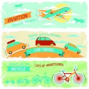 Link toTransport banners vector 01