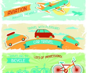 Transport banners vector 01
