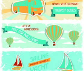 Transport banners vector 02