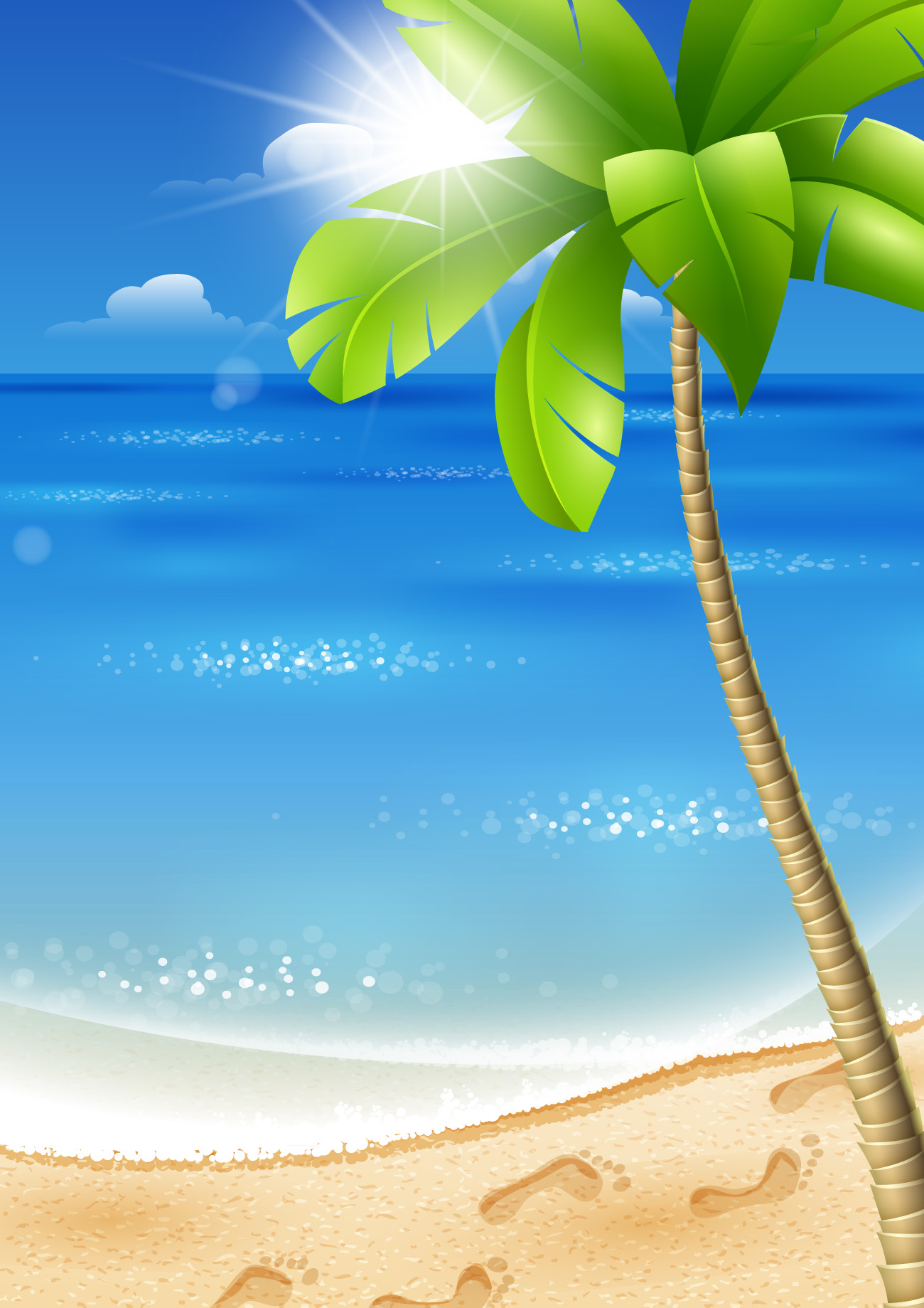 Beautiful Tropical Backgrounds vector 02