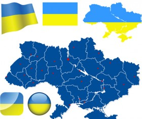 Different Ukraine symbols vector 01