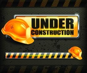 Under Construction design elements vector 02