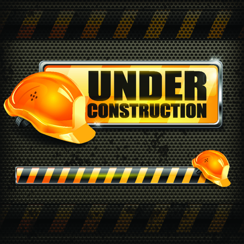 Under Construction design elements vector 02 - Vector ...