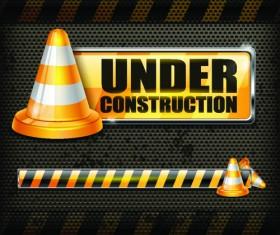 Under Construction design elements vector 03