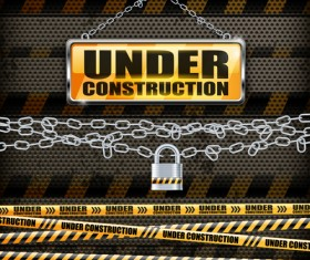 Under Construction design elements vector 04