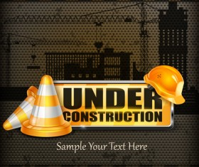 Under Construction design elements vector 05