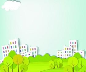 Vector Urban Landscapes set 02
