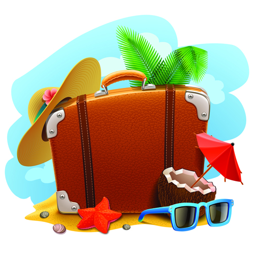Vacation design vector backgrounds 02