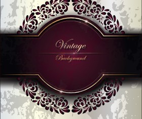 Purple Vintage Backgrounds vector set 01