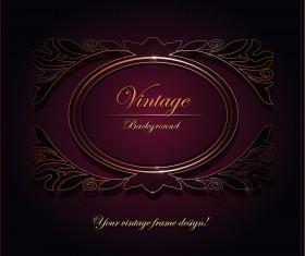 Purple Vintage Backgrounds vector set 02