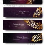 Link toPurple vintage backgrounds vector set 03