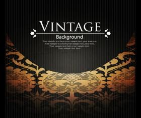 Vintage Dark Backgrounds vector 02