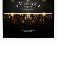Vintage Dark Backgrounds vector 03