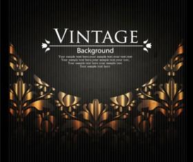 Vintage Dark Backgrounds vector 04