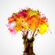 Link toCreative watercolor tree vector 01
