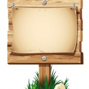 Link toWooden board with grass vector 05