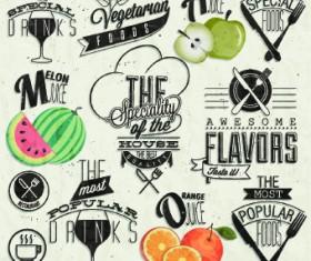 Restaurant and cafe logos design vector 03