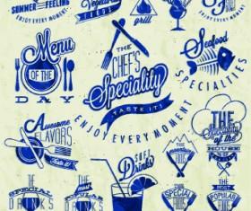 Restaurant and cafe logos design vector 04