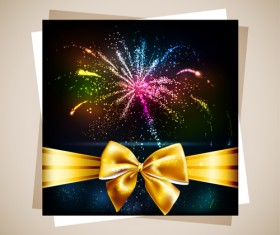 Fireworks Gift cards vector 03