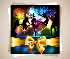 Fireworks Gift cards vector 04