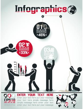 Free Infographic free infographics icons : Creative Infographic vector set 02 - Vector Business free download