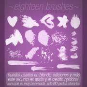 Link toEighteen photoshop brushes