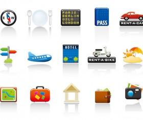 Travel style icon vector