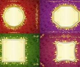 Golden Border frame 7 vector