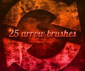 Grungy Arrow Photoshop Brushes
