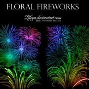 Link toFloral fireworks photoshop brushes