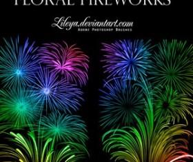 Floral Fireworks Photoshop Brushes