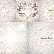 Link toGorgeous decorative pattern background  vector