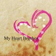 Link toMy heart photoshop brushes