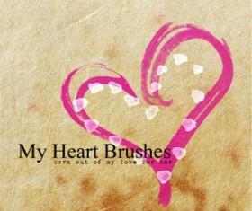 My Heart Photoshop Brushes