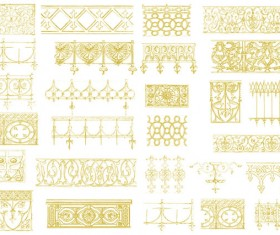 Glod Floral ornaments vector