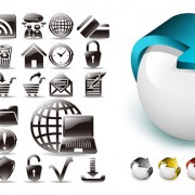 Link toBlack and white and three-dimensional icon vector