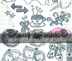 Cute Doodle Photoshop Brushes