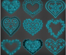 Floral Heart Photoshop Brushes