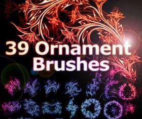 Free Ornament Photoshop Brushes
