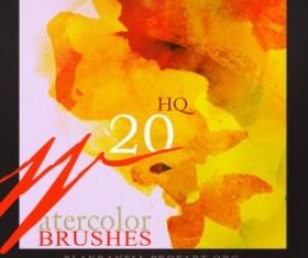 Watercolor Brushes Set  Photoshop Brushes