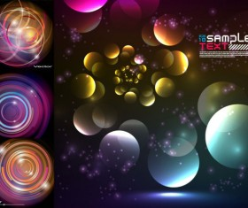 Abstract colored circular background art