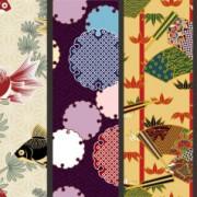 Japanese decorative pattern background