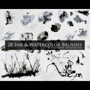 Link toInk and watercolor photoshop brushes