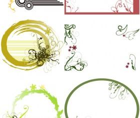 flow of ink Border Floral vector