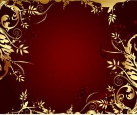 Elegant gold-colored decorative frame vector