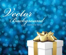Gift fantasy background vector