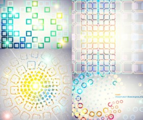 Abstract colored circular background Vector