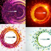 Link toCircular light background vector